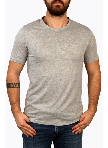 Derigo Gri Erkek Bisitlet Yaka T-Shirt 68503 Gri